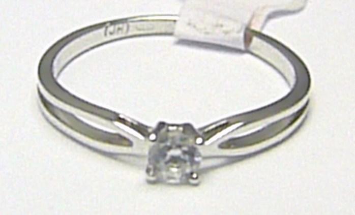 Zásnubní prstýnek z bílého zlata se zirkonem 585/1,06 gr vel. 49 H347