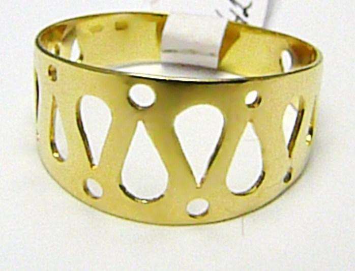 Velký mohutný celozlatý prsten ze žlutého zlata 585/2,58gr vel. 64 H359