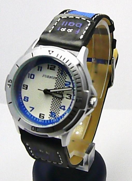 Chlapecké dětské sportovní černomodré moderní hodinky Foibos 2067.2