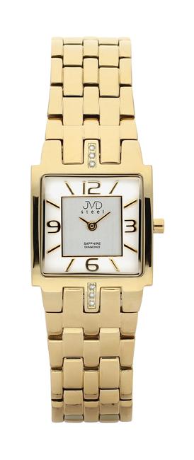 Dámské luxusní hodinky JVD steel J4034.1 s diamanty a safírovým sklem POŠTOVNÉ ZDARMA!