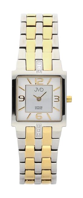 Dámské luxusní hodinky JVD steel J4034.3 s diamanty a safírovým sklem POŠTOVNÉ ZDARMA!