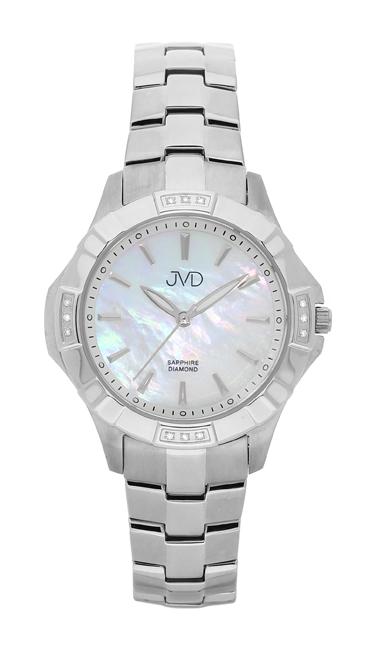 Náramkové hodinky JVD steel J4073.1 s pravými diamanty a safírovým sklem POŠTOVNÉ ZDARMA!