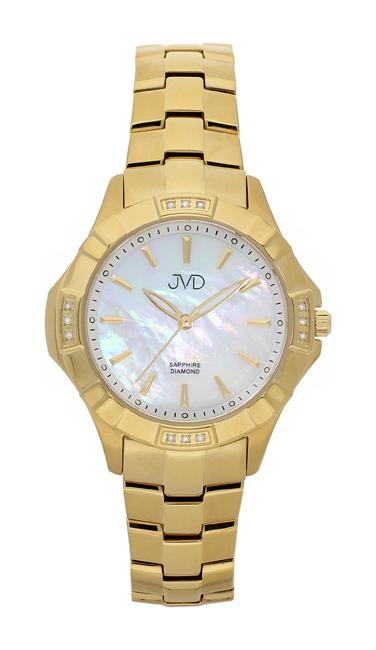 Náramkové hodinky JVD steel J4073.3 s pravými diamanty a safírovým sklem POŠTOVNÉ ZDARMA!