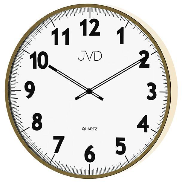 Kovové designové nástěnné hodiny JVD quartz H13.3 - průměr 38cm