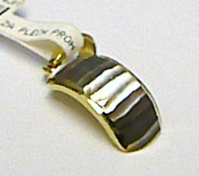 Zlatý přívěsek z bílého a žlutého zlata s gravírováním 585/0,50gr P381 (2120257)