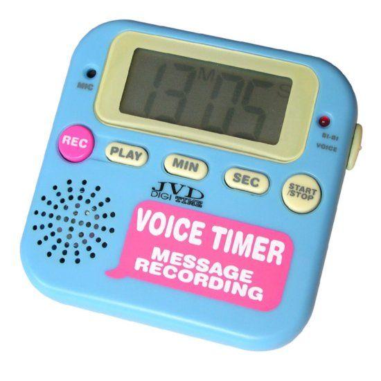 Modrá digitální minutka JVD DM112.1 s odpočtem a přípočtem