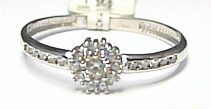 Luxusní zásnubní prstýnek z bílého zlata se zirkony 22ks 585/1,25gr vel. 56 P386 (1161216)