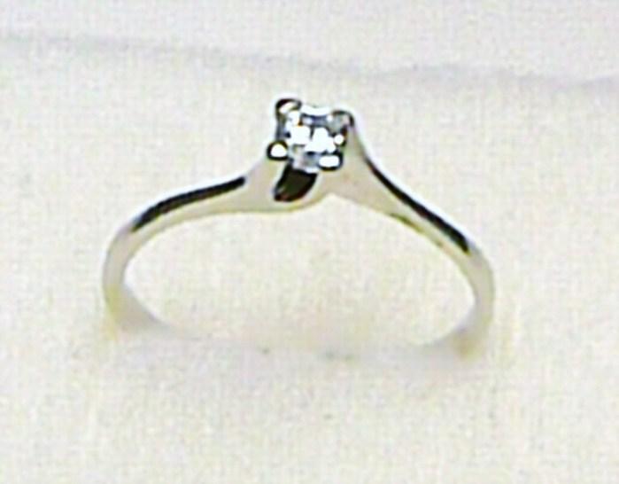 Luxusní zásnubní prstýnek z bílého zlata se zirkonem 585/1,05 gr vel. 55 P387 (6860062)