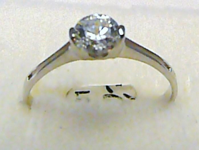 Luxusní zásnubní prstýnek z bílého zlata se zirkonem 585/1,35 gr vel. 57 P388 (1161249)
