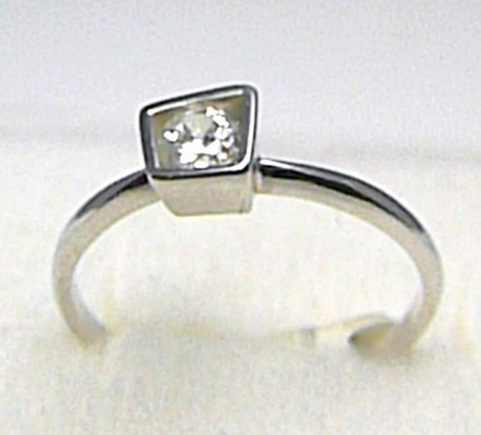 Luxusní zásnubní prsten z bílého zlata se zirkonem 585/1,60 gr vel. 57 P389 POŠTOVNÉ ZDARMA! (6860077)