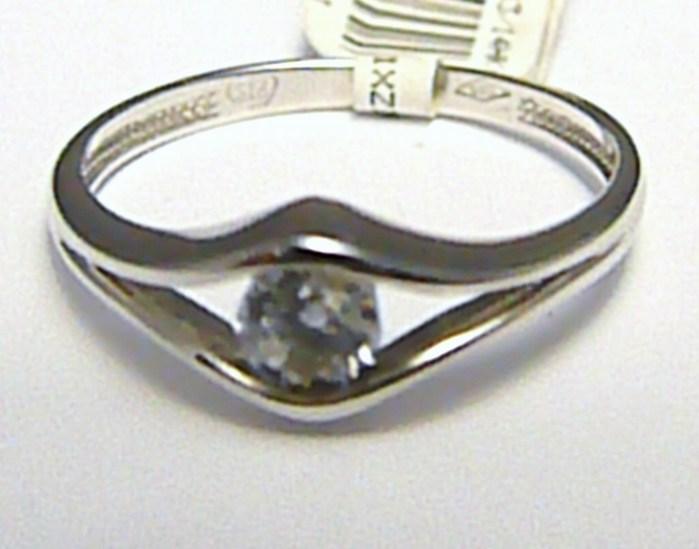 Luxusní zásnubní prsten z bílého zlata se zirkonem 585/1,75 gr vel. 54 P390 POŠTOVNÉ ZDARMA! (1860389)