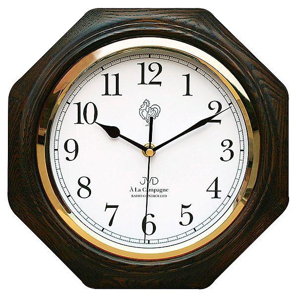 Dřevěné rádiem řízené nástěnné hodiny JVD NR7172.2 ve francouzském stylu (POŠTOVNÉ ZDARMA!!)