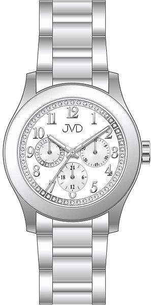 Dámské ocelové voděodolné hodinky JVD JC706.1 - chrnograf 5ATM POŠTOVNÉ ZDARMA!