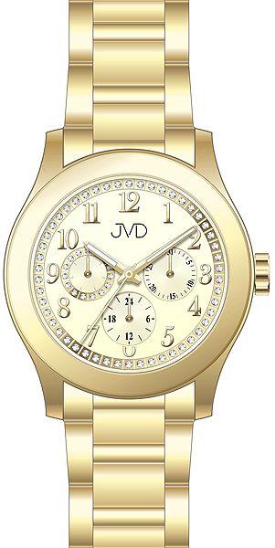 Dámské ocelové voděodolné hodinky JVD JC706.3 - chrnograf 5ATM POŠTOVNÉ ZDARMA!
