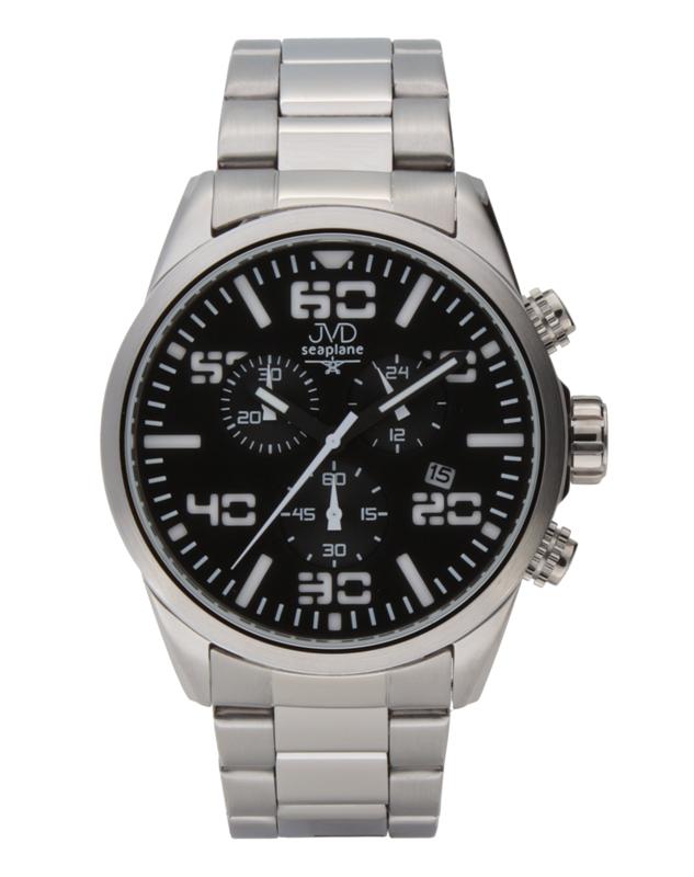 Pánské vodotěsné ocelové chronografy hodinky JVD seaplane JC647.1 POŠTOVNÉ ZDARMA!