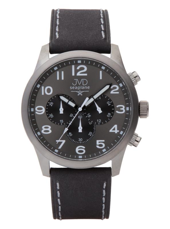 Pánský ocelový chronograf vodotěsné hodinky JVD seaplane JC628.1 - 10ATM POŠTOVNÉ ZDARMA!