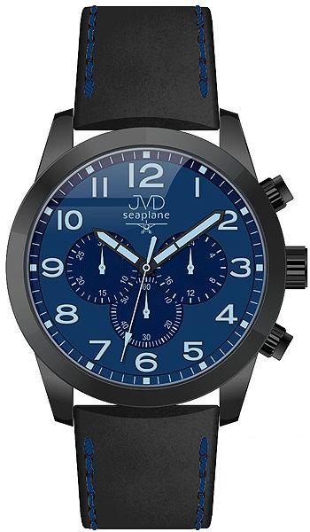 Pánský ocelový chronograf vodotěsné hodinky JVD seaplane JC628.2 - 10ATM POŠTOVNÉ ZDARMA!