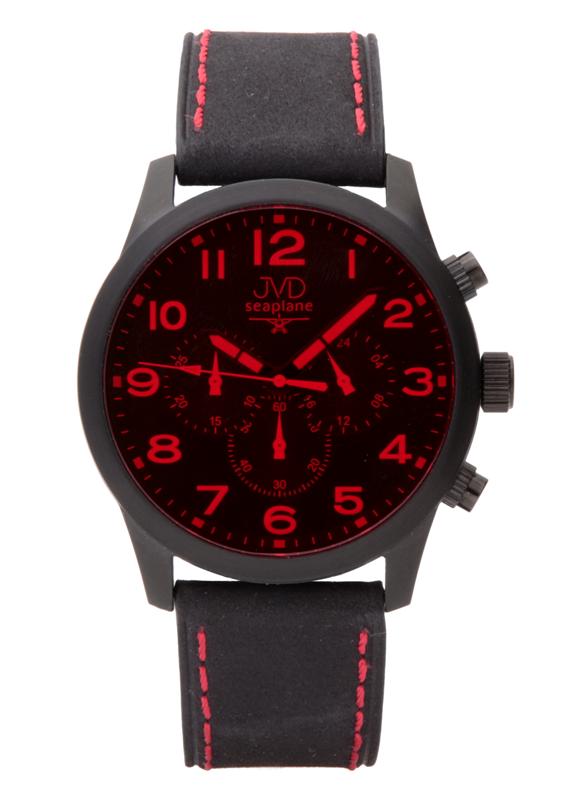 Pánský ocelový chronograf vodotěsné hodinky JVD seaplane JC628.3 - 10ATM POŠTOVNÉ ZDARMA!