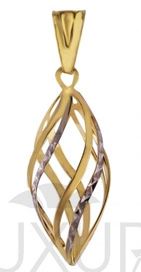 Dámský zlatý přívěsek v kombinaci bílého a žlutého zlata 585/0,90gr 1121009 (1121009-5-0-0)