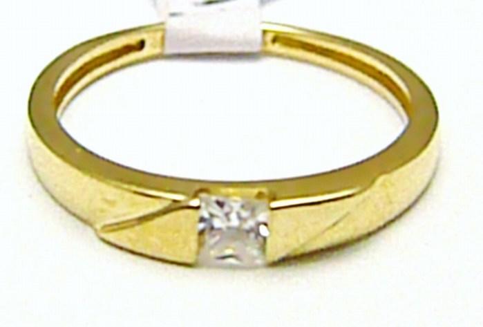 Mohutný zásnubní zlatý prsten se zirkonem 585/1,61 gr vel. 52 H404 POŠTOVNÉ ZDARMA!