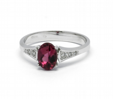 Diamantový prsten s brazilským turmalínem (0,888ct) 585/2,31 gr J-22560-13 POŠTOVNÉ ZDARMA!