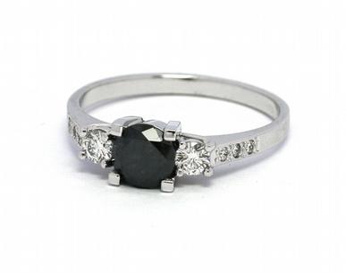 Zásnubní prsten s černým diamantem 585/2,11 gr J-21896-12 POŠTOVNÉ ZDARMA! (21896-12)