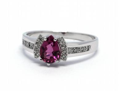Luxusní zásnubní diamantový prsten s turmalínem 585/2,98 gr J-21426-12 POŠTOVNÉ ZDARMA!