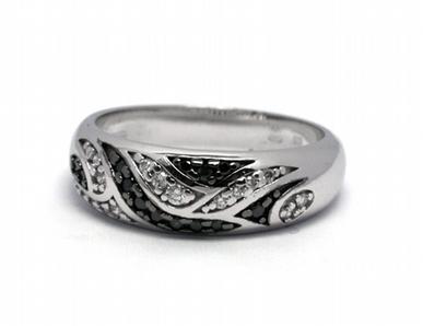 Luxusní zásnubní diamantový prsten černé diamanty 585/4,69 gr J-21073-12 POŠTOVNÉ ZDARMA!