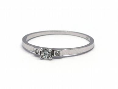 Dámský zásnubní diamantový prsten přírodní diamant 585/0,94 gr J-21251-12 POŠTOVNÉ ZDARMA!