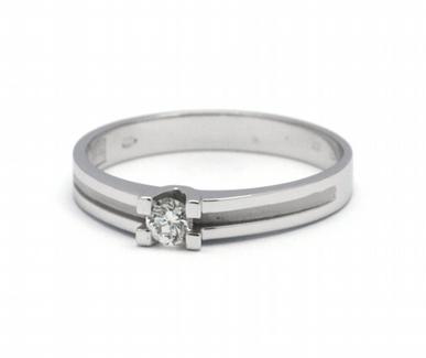 Luxusní zásnubní diamantový prsten přírodní diamant 585/1,96 gr J-21252-12 POŠTOVNÉ ZDARMA!