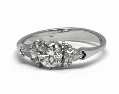 Luxusní diamantový prsten s přírodními diamanty 585/2,07 gr J-20865-12 POŠTOVNÉ ZDARMA!