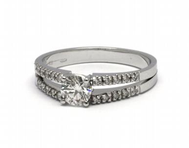 Luxusní diamantový prsten s přírodními diamanty 585/2,65 gr J-20860-12 POŠTOVNÉ ZDARMA!
