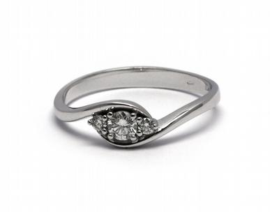 Luxusní zásnubní diamantový prsten 585/1,97 gr J-20777-12 POŠTOVNÉ ZDARMA! (J-20777-12)