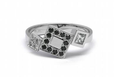 Luxusní diamantový prsten s přírodními diamanty 585/2,84 gr J-20400-11 POŠTOVNÉ ZDARMA!