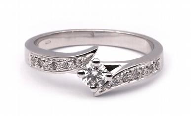 Zásnubní diamantový prsten s přírodními diamanty 585/3,41 gr J-20113-11 POŠTOVNÉ ZDARMA!