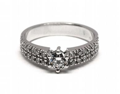Luxusní zásnubní prsten s přírodními diamanty 585/3,21 gr J-20014-11 POŠTOVNÉ ZDARMA!