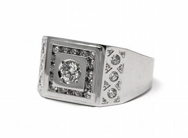 Pánský diamantový luxusní mohutný prsten 585/9,53 gr J-20398-11 POŠTOVNÉ ZDARMA!