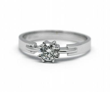 Zásnubní luxsní prsten s přírodním diamantem 585/2,78 gr J-22232-13 POŠTOVNÉ ZDARMA!