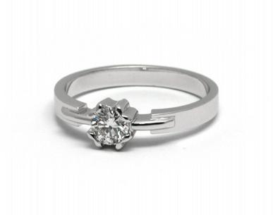 Zásnubní diamantový prsten s přírodními diamanty 585/2,76 gr J-21606-12 POŠTOVNÉ ZDARMA!