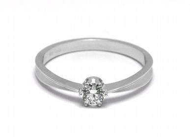 Zásnubní diamantový prsten s přírodním diamantem 585/1,69 gr J-21620-12 POŠTOVNÉ ZDARMA!