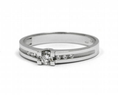 Zásnubní diamantový prsten s přírodním diamantem 585/1,96 gr J-21534-12 POŠTOVNÉ ZDARMA!
