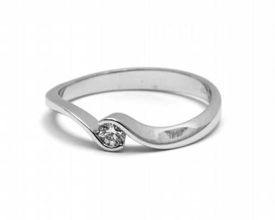 Dámský zásnubní prsten s přírodním diamantem 585/1,89 gr J-21536-13 POŠTOVNÉ ZDARMA! (21536-13)