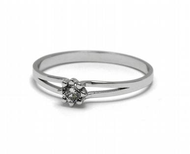 Dámský zásnubní prsten s přírodním diamantem 585/1,23 gr J-21541-12 POŠTOVNÉ ZDARMA! (J-21541-12)