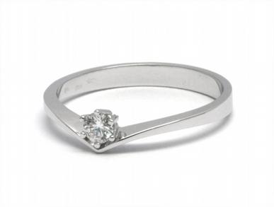Dámský zásnubní prsten s přírodním diamantem 585/1,91 gr J-20872-12 POŠTOVNÉ ZDARMA! (J-20872-12)