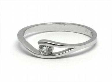 Dámský zásnubní prsten s přírodním diamantem 585/1,55 gr J-20873-12 POŠTOVNÉ ZDARMA! (J-20873-12)