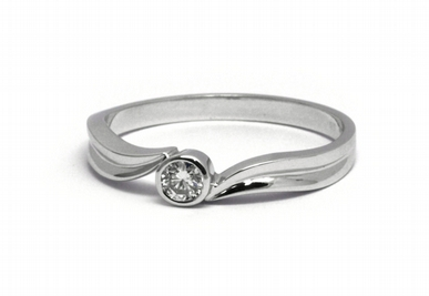 Zlatý zásnubní prsten s přírodním diamantem 585/2,26 gr J-20671-12 POŠTOVNÉ ZDARMA! (J-20671-12)