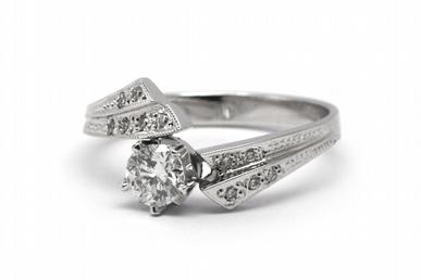 Zlatý zásnubní prsten s přírodním diamantem 585/2,80 gr J-20381-11 POŠTOVNÉ ZDARMA! (J-20381-11)