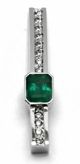 Diamantový zlatý přívěsek s kolumbijským smaragdem 585/1,44 gr J-21661-12 POŠTOVNÉ ZDARMA! (J-21661-12)