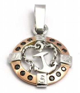 Diamantový přívěsek s černými diamanty kotva 585/2,10 gr J-21547-12 POŠTOVNÉ ZDARMA!