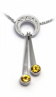 Diamantový zlatý přívěsek se žlutými safíry 585/3,47 gr J-21045-12 POŠTOVNÉ ZDARMA!